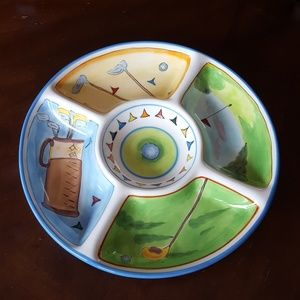 MESA INT GOLF PRO DIVIDED RELISH OR SNACK TRAY